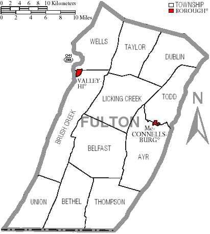 File:Map of Fulton County Pennsylvania With Municipal and Township