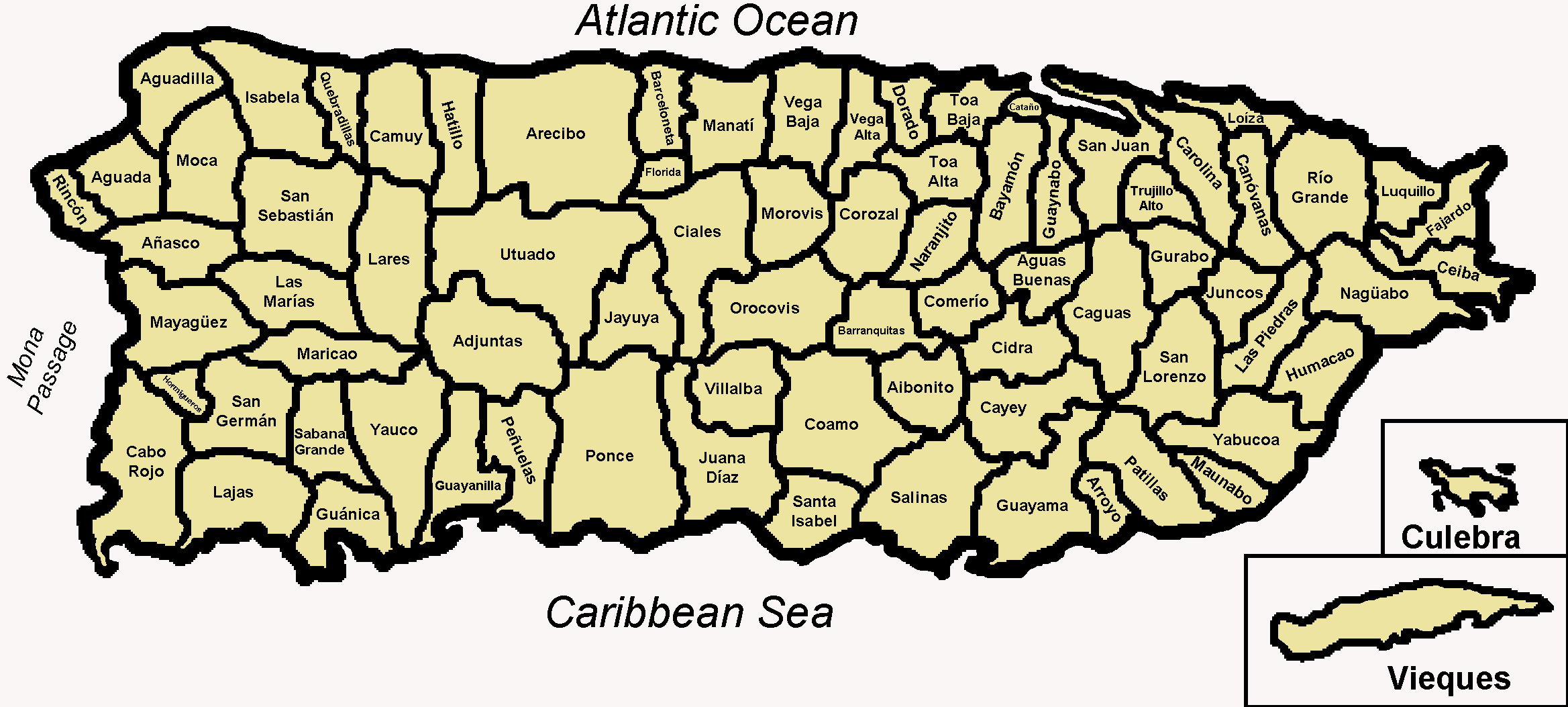 FileMap Of The Municipalities Of Puerto Ricopng Wikimedia - Puerto rico maps