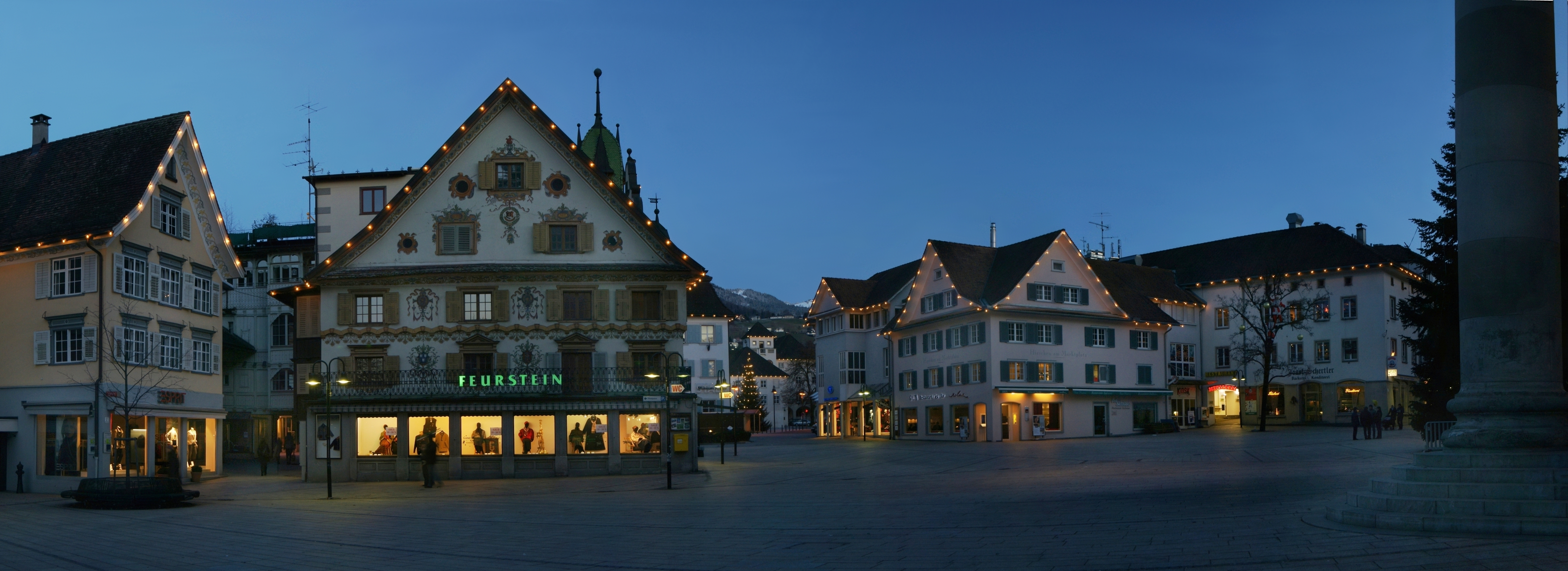 File Marktplatz Dornbirn Panorama Wikimedia Commons