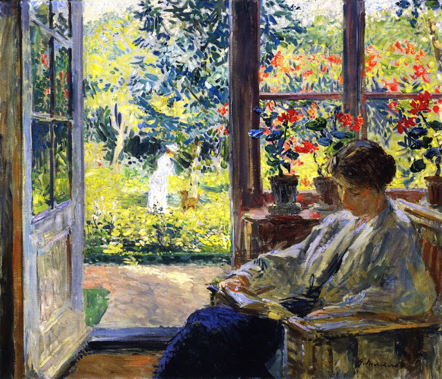 Melcher's Woman Reading by a Window