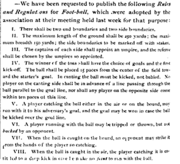 essay football rules The laws of the game (lotg) are the codified rules that help define association football they are the only rules of association football subscribed to by the sport's.