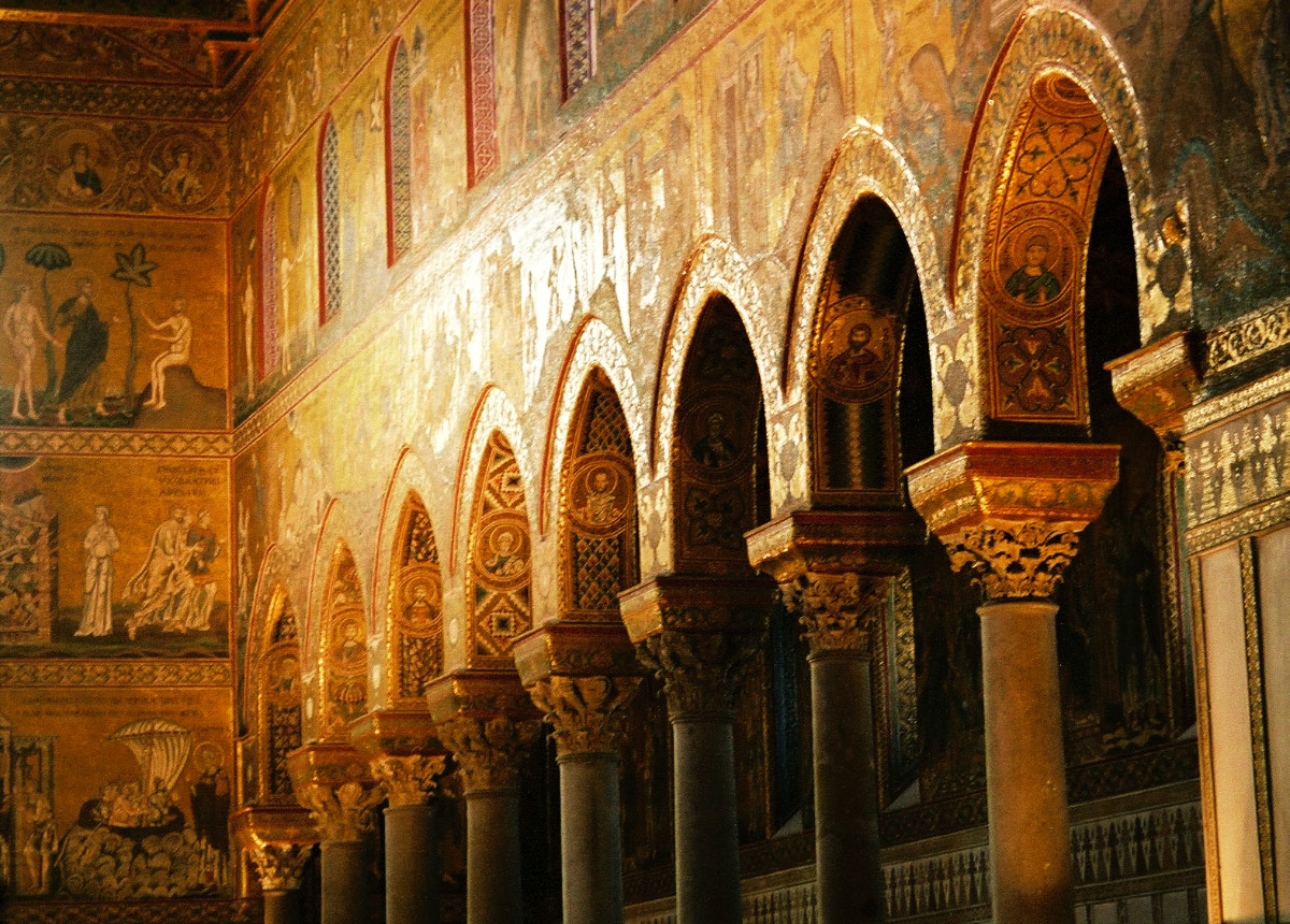Monreale, Sicily Monreale cathedral, church in monreale, interior of monreale cathedral