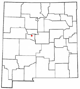 Location of Los Lunas, New Mexico