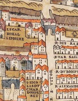 Fichier:Plan de Paris vers 1550 porte St-Victor.jpg