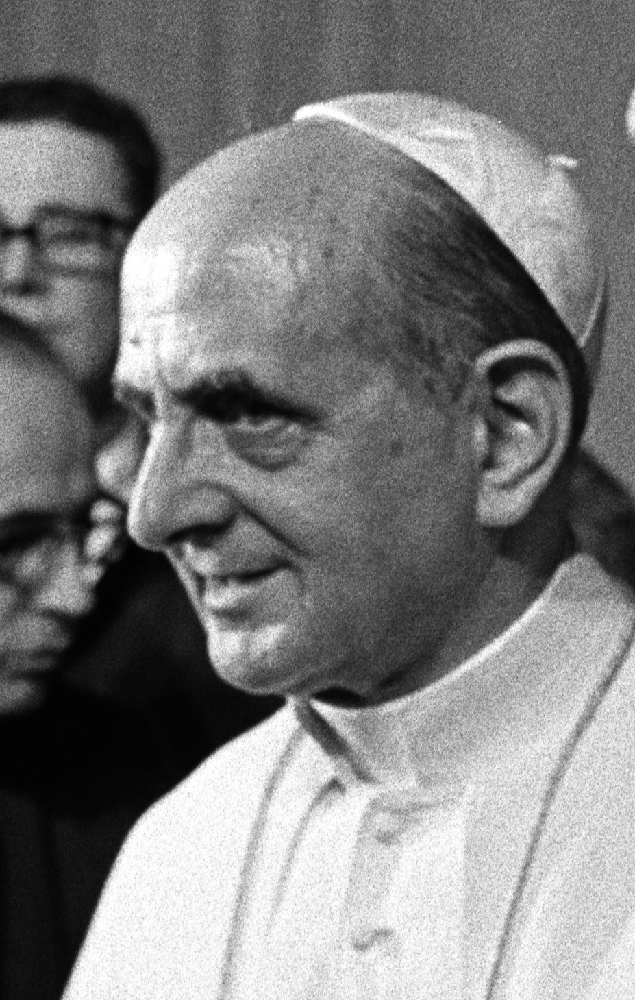 Pope Paul VI. during a visit of US president L...