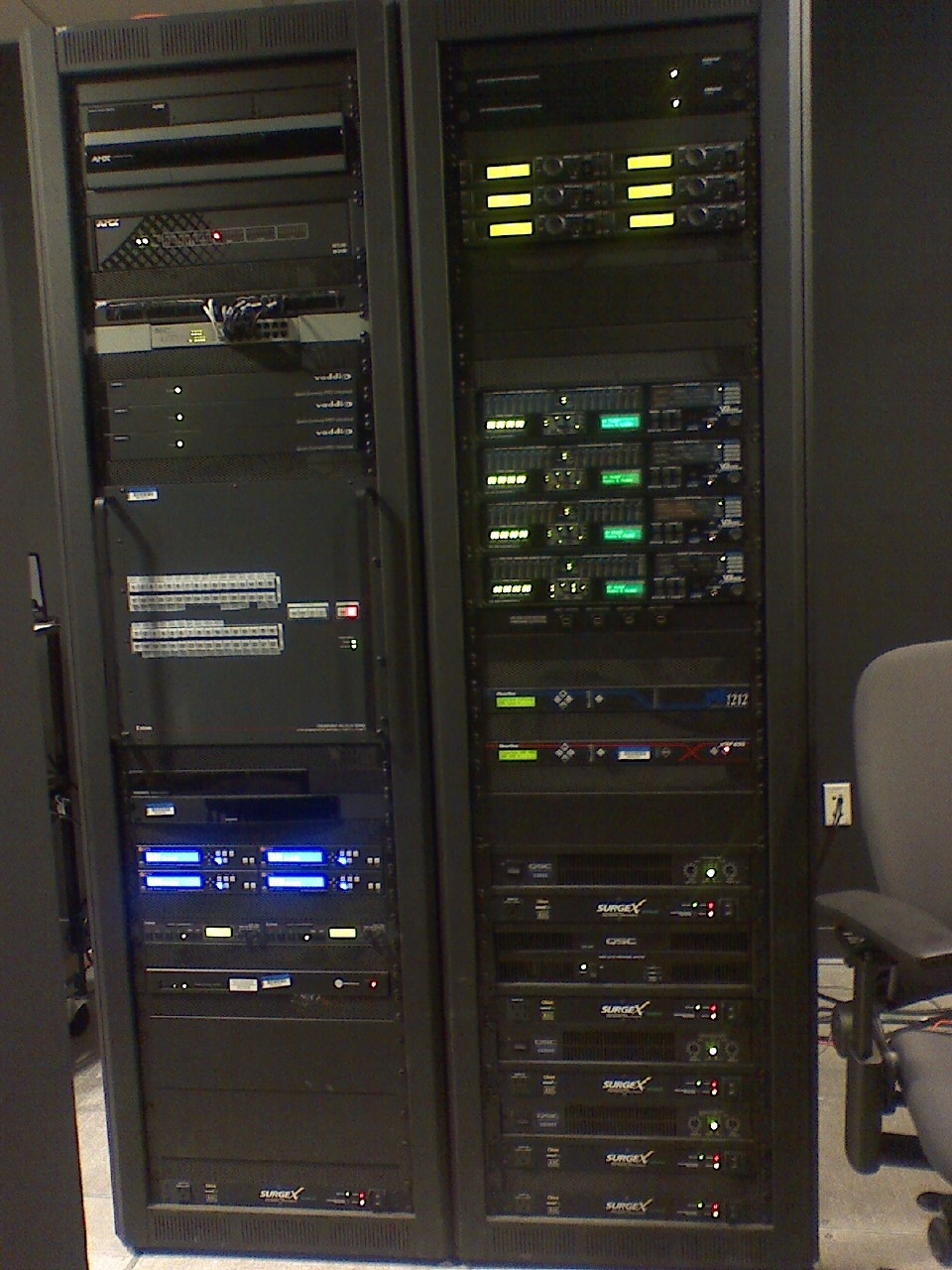 File:Rack for installed sound system, VTC conference room control