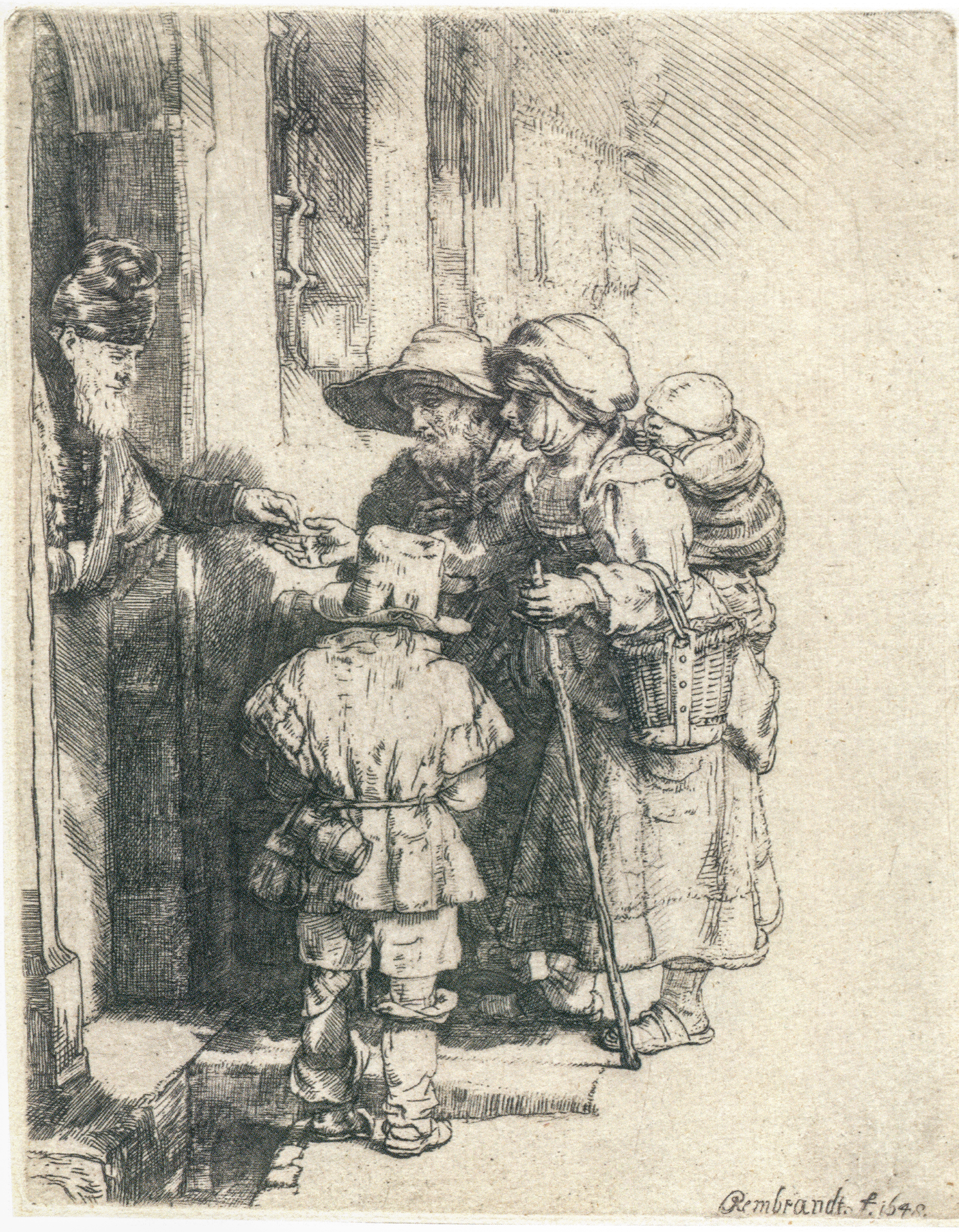 FileRembrandt - Beggars Receiving Alms at the Door of a House.jpg & File:Rembrandt - Beggars Receiving Alms at the Door of a House.jpg ...