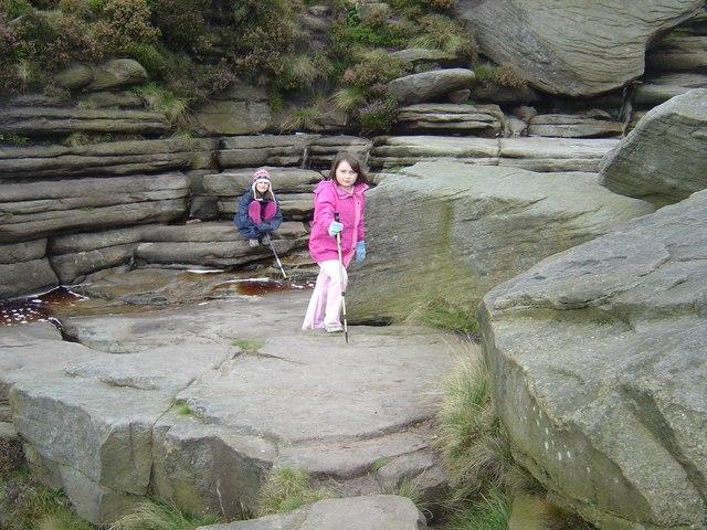 File:Rock Formation Edale Moor above Grindsbrook - geograph.org.uk - 1248173.jpg