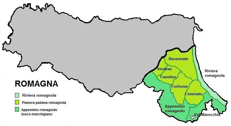 Cartina Riviera Romagnola.File Romagna Cartina Territori Jpg Wikimedia Commons