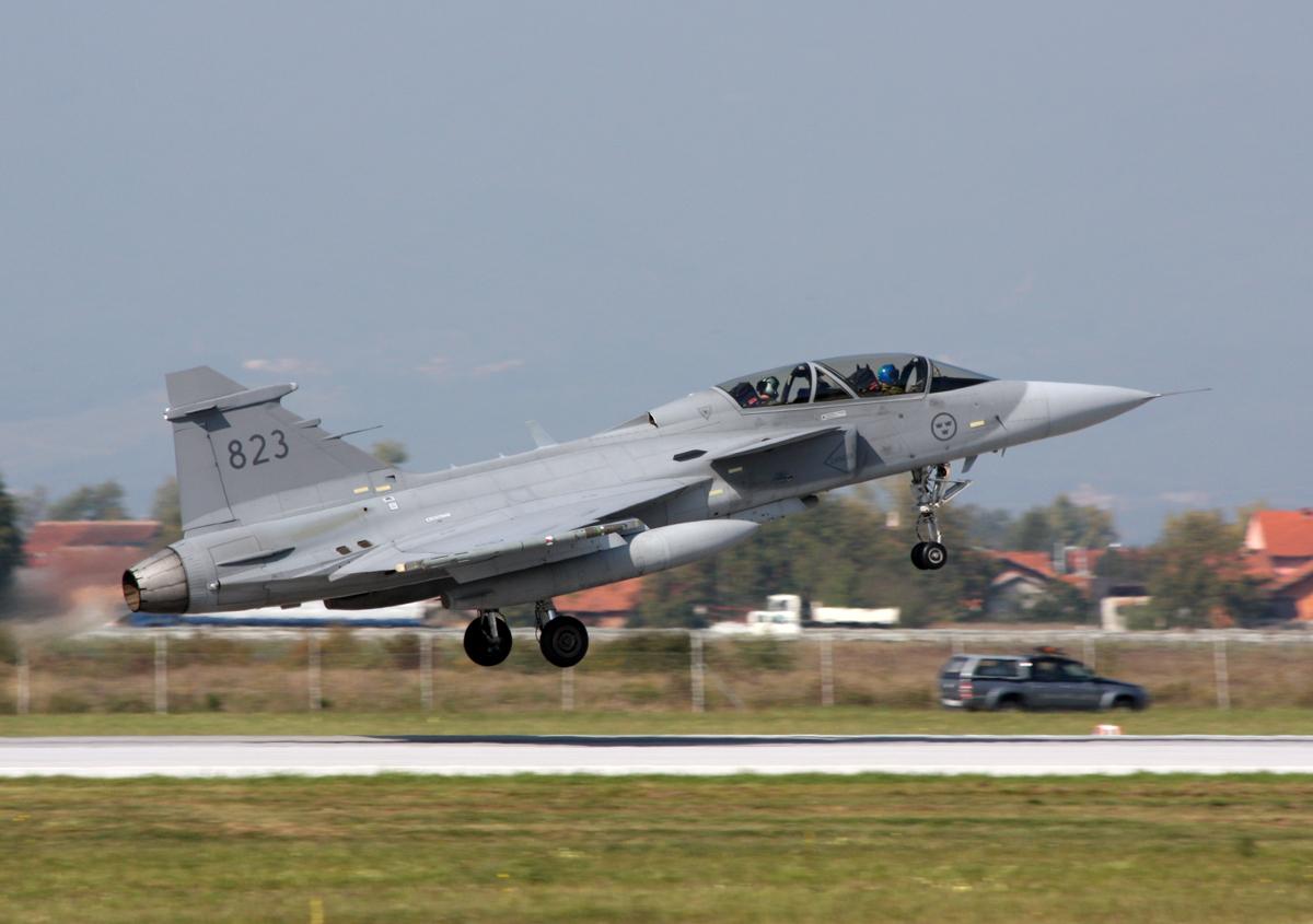 File Saab Jas39d Gripen Sweden Air Force 39823 Zagreb Pleso 05 10 2009 02 Jpg Wikimedia Commons