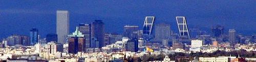 vista suroriental de madrid con algunos de sus rascacielos ms los edificios ms altos