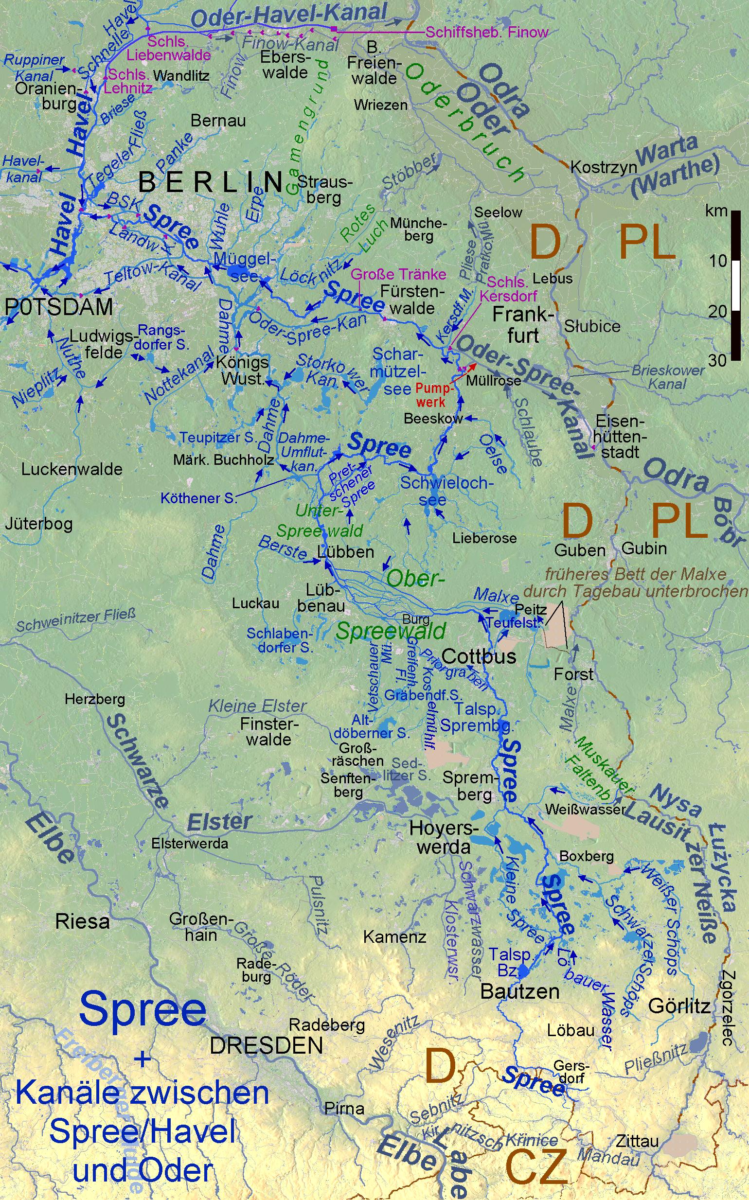 Spree Karte.Datei Spree Kanale Topo Png Wikipedia