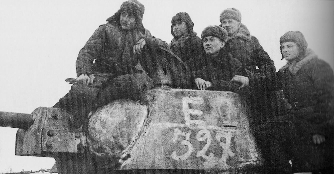 Crew of a T-34 tank