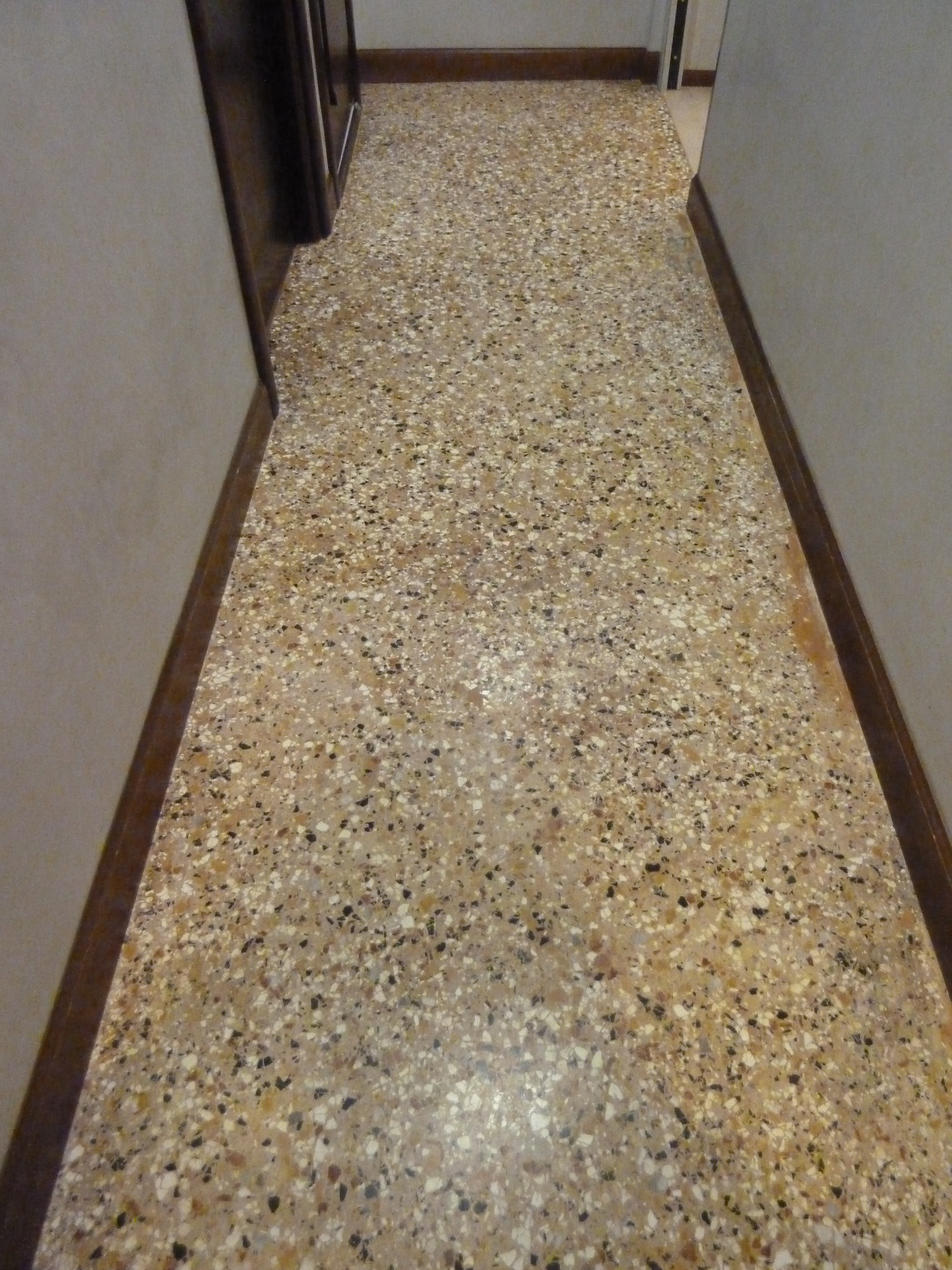 Terrazzo Flooring Design : Terrazzo kitchen floor wood floors