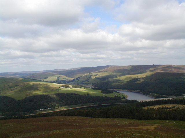 The Derwent Moors from Win Hill - geograph.org.uk - 1528156