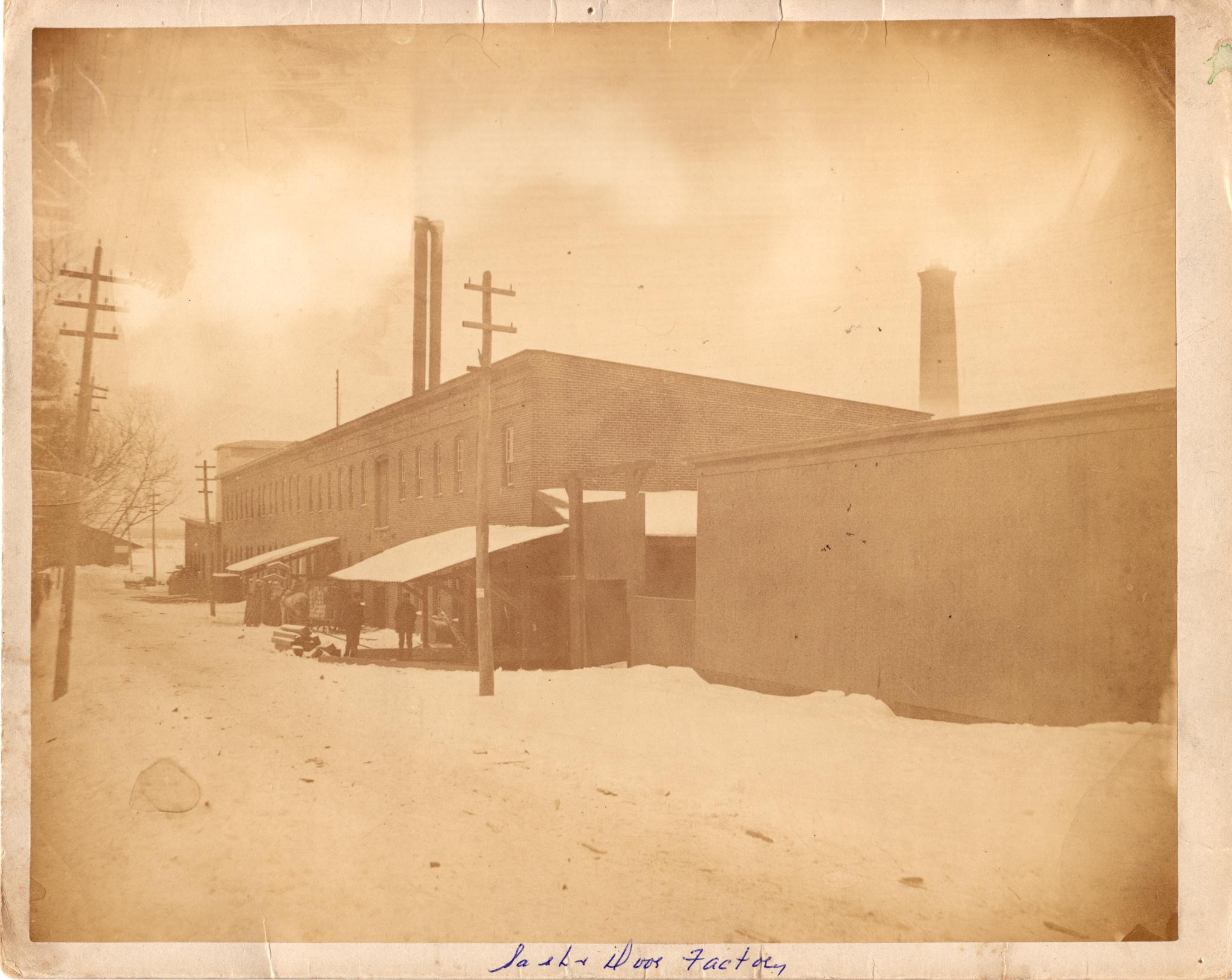 File The Rathbun Company S Sash And Door Factory On West Side Of Mill Street Deseronto