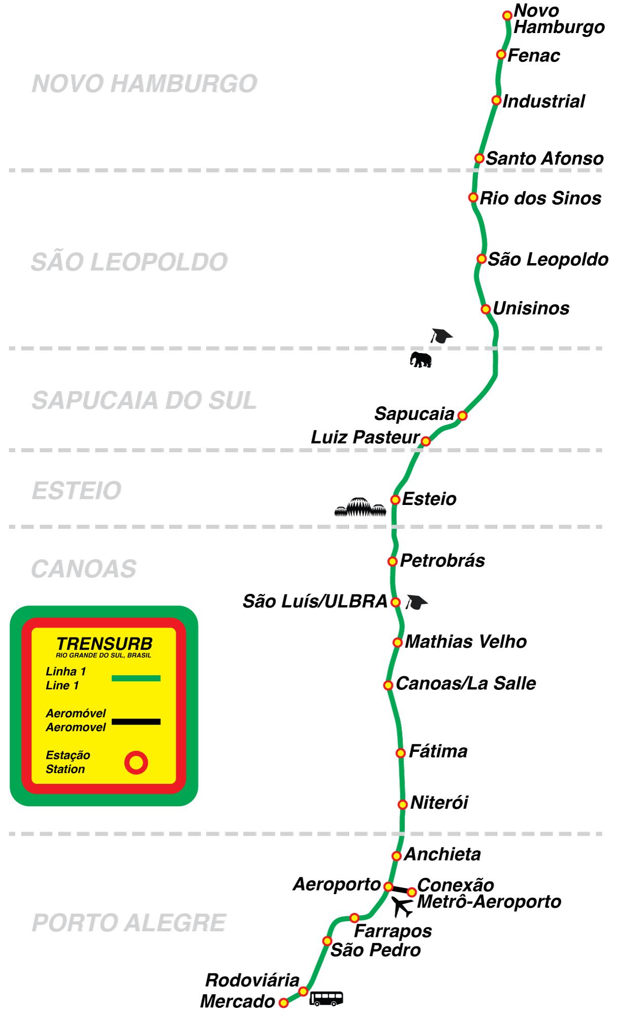 Porto Alegre Metro Porto Alegre tunnelbana