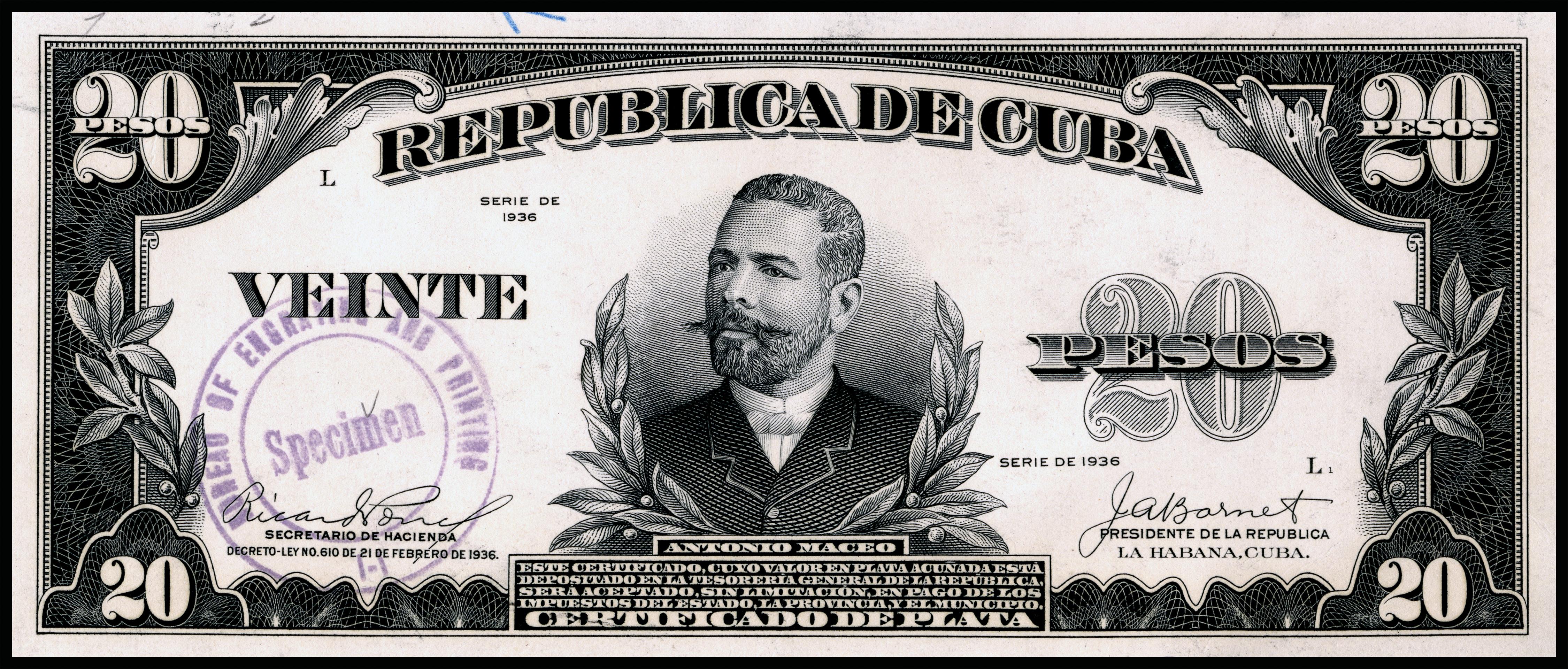 Silver Stock Chart History: US-BEP-República de Cuba (certified proof) 20 silver pesos ,Chart