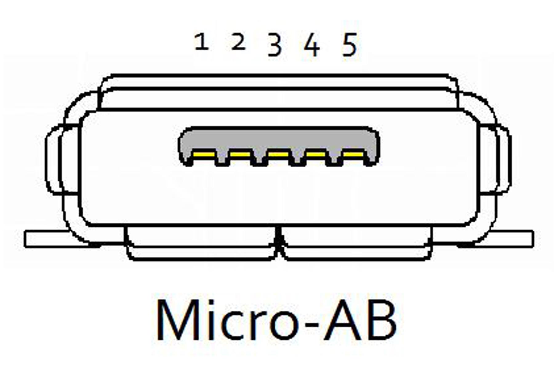 Схема разъема микро usb на планшете