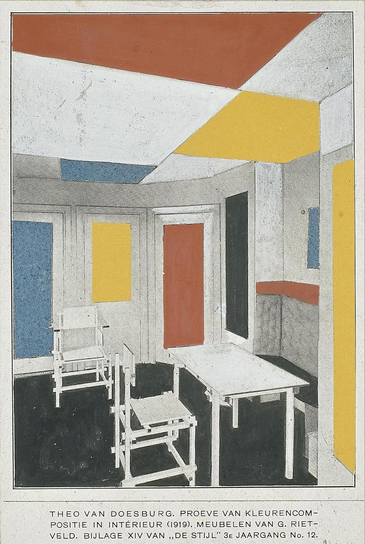 Datei:Van Doesburg and Rietveld interior 1919.jpg – Wikipedia