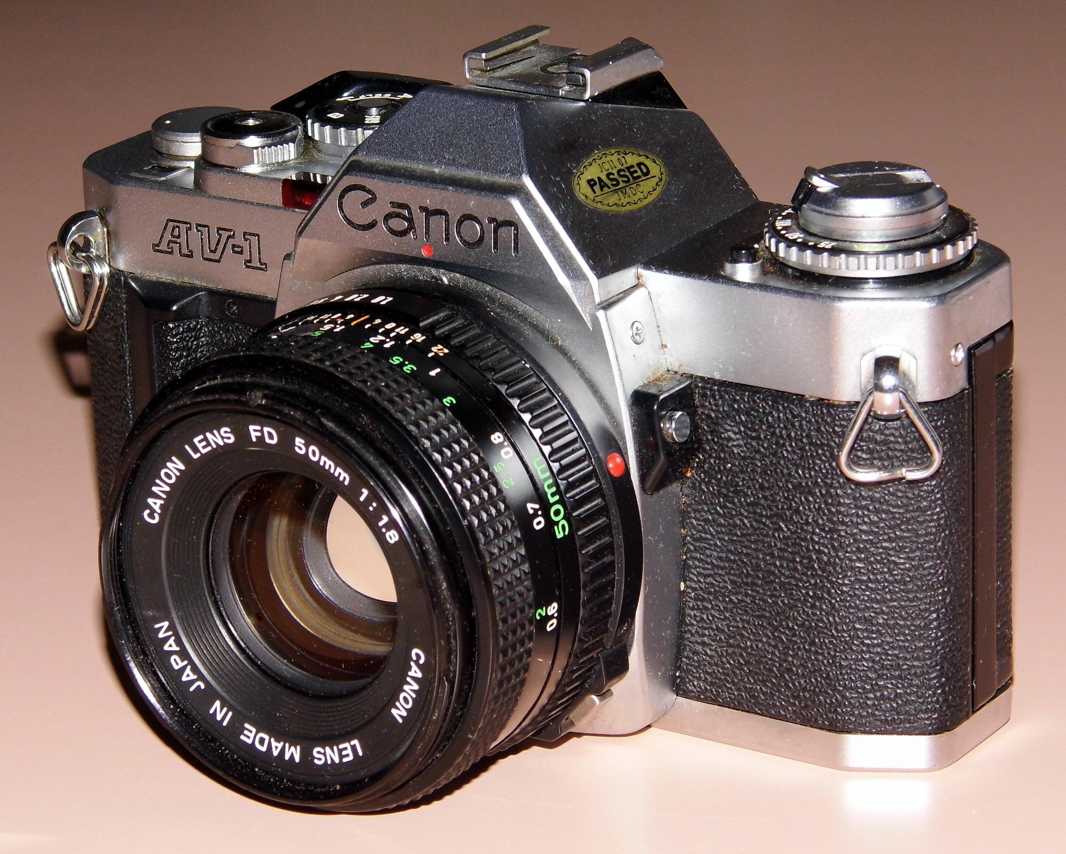 File:Vintage Canon AV-1 35mm SLR Film Camera, Made In ...