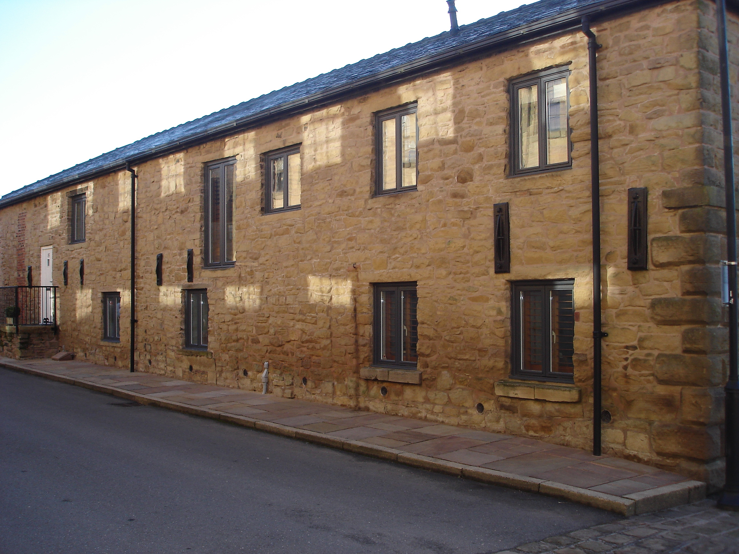 Long two-storey building