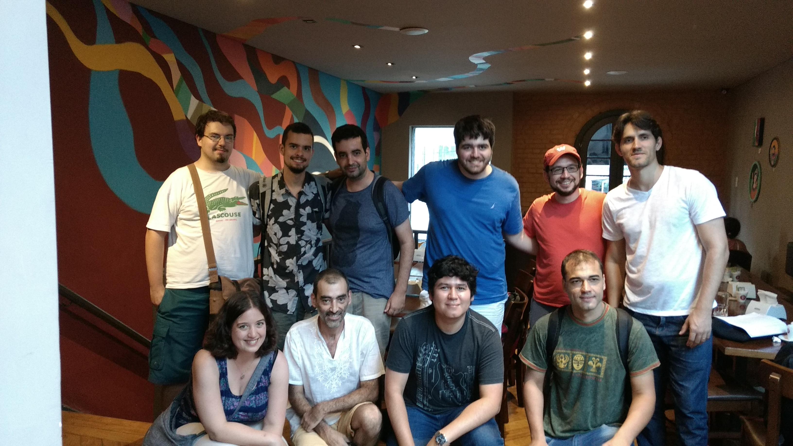 Meeting with representatives of the Grupo de Usuários Wikimedia no Brasil.
