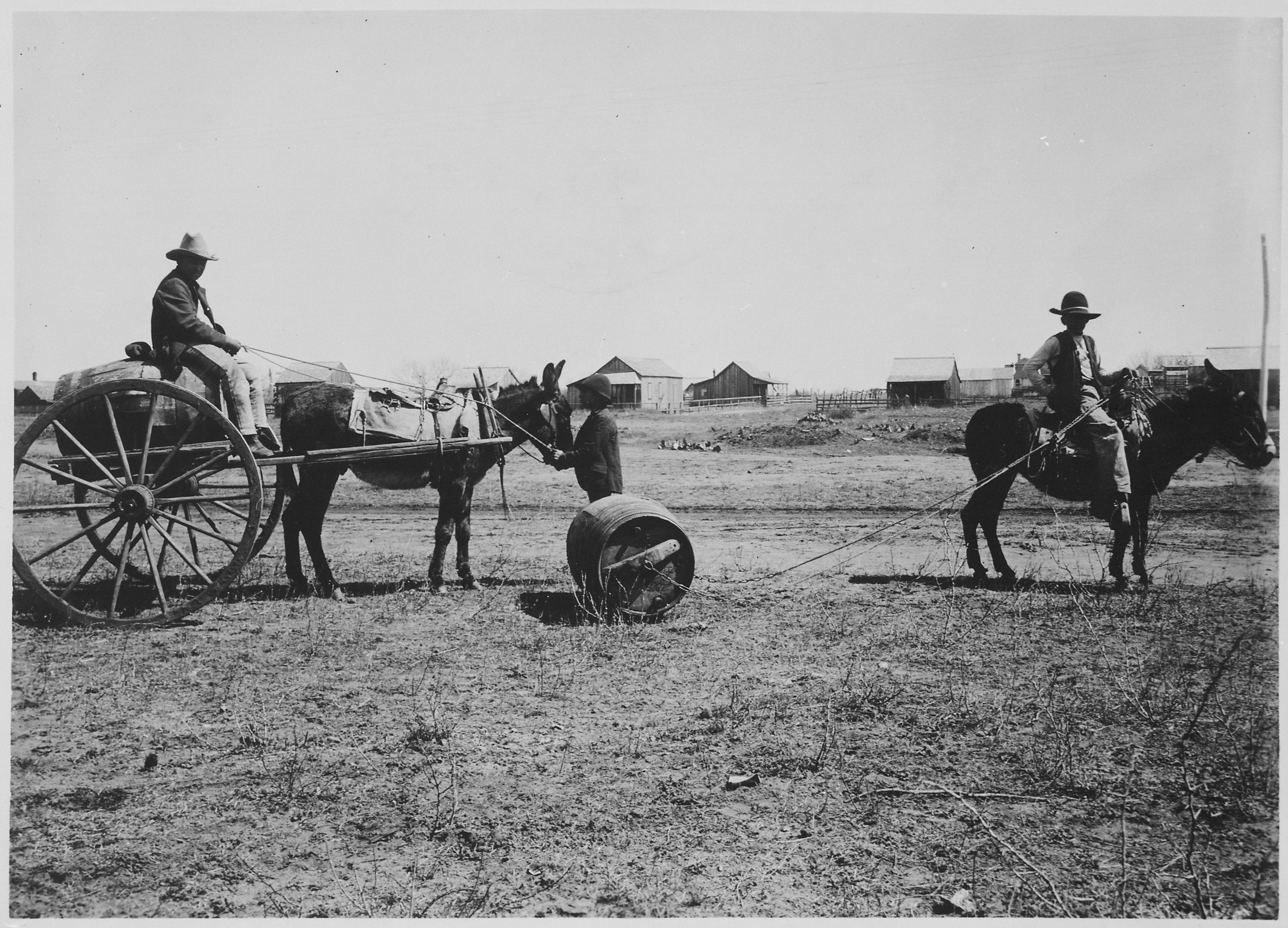 File Quot Two Common Methods Of Hauling Water In Old Mexico