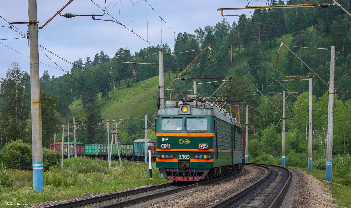 File:ВЛ85-168, Россия, Красноярский край, перегон Сорокино - Красноярск-Восточный (Trainpix 138055).jpg