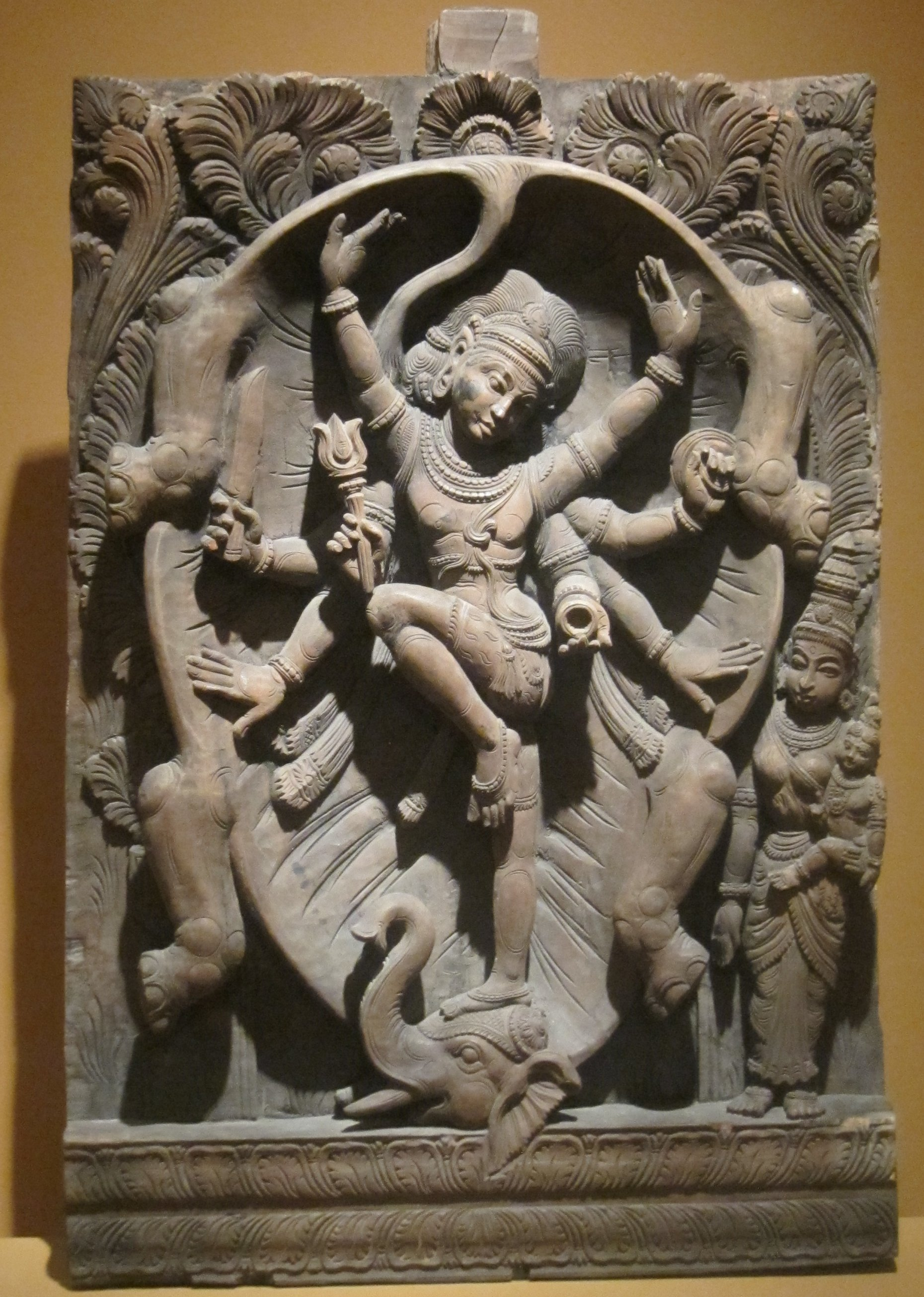 fileshiva slayer of the elephant wood carving from