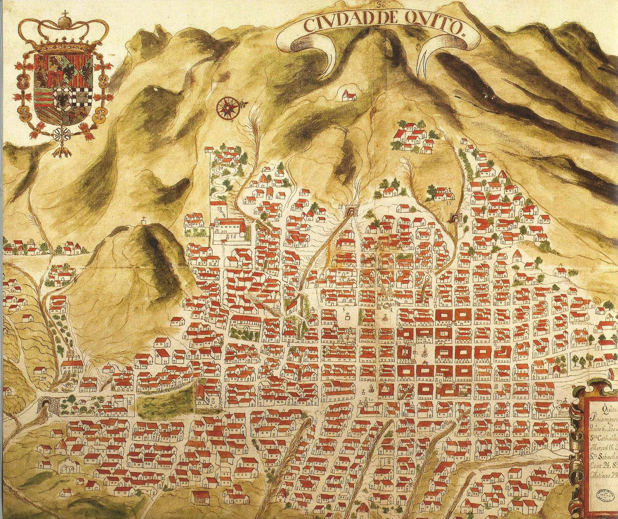 Urban evolution of colonial Quito Quiz