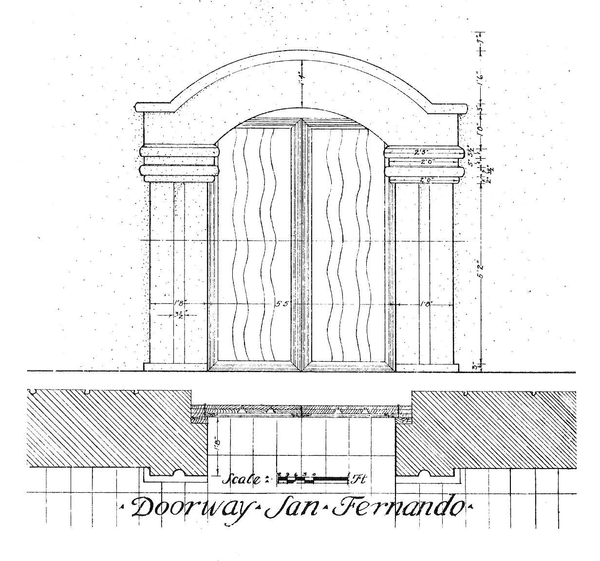 File1916 Rexford Newcomb Sketch Mission San Fernando Rey De