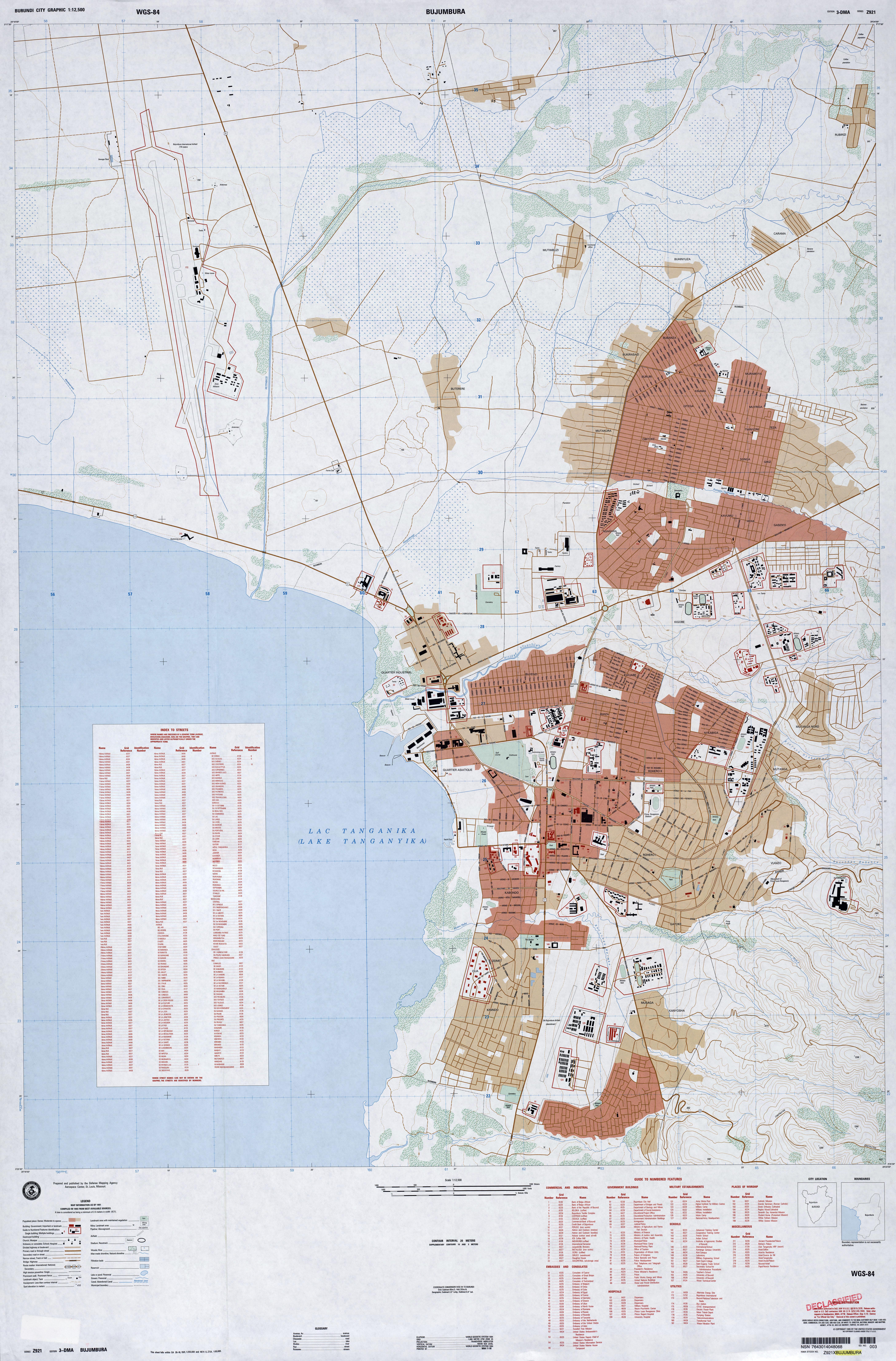 File1991 map Bujumbura Burundijpg Wikimedia Commons