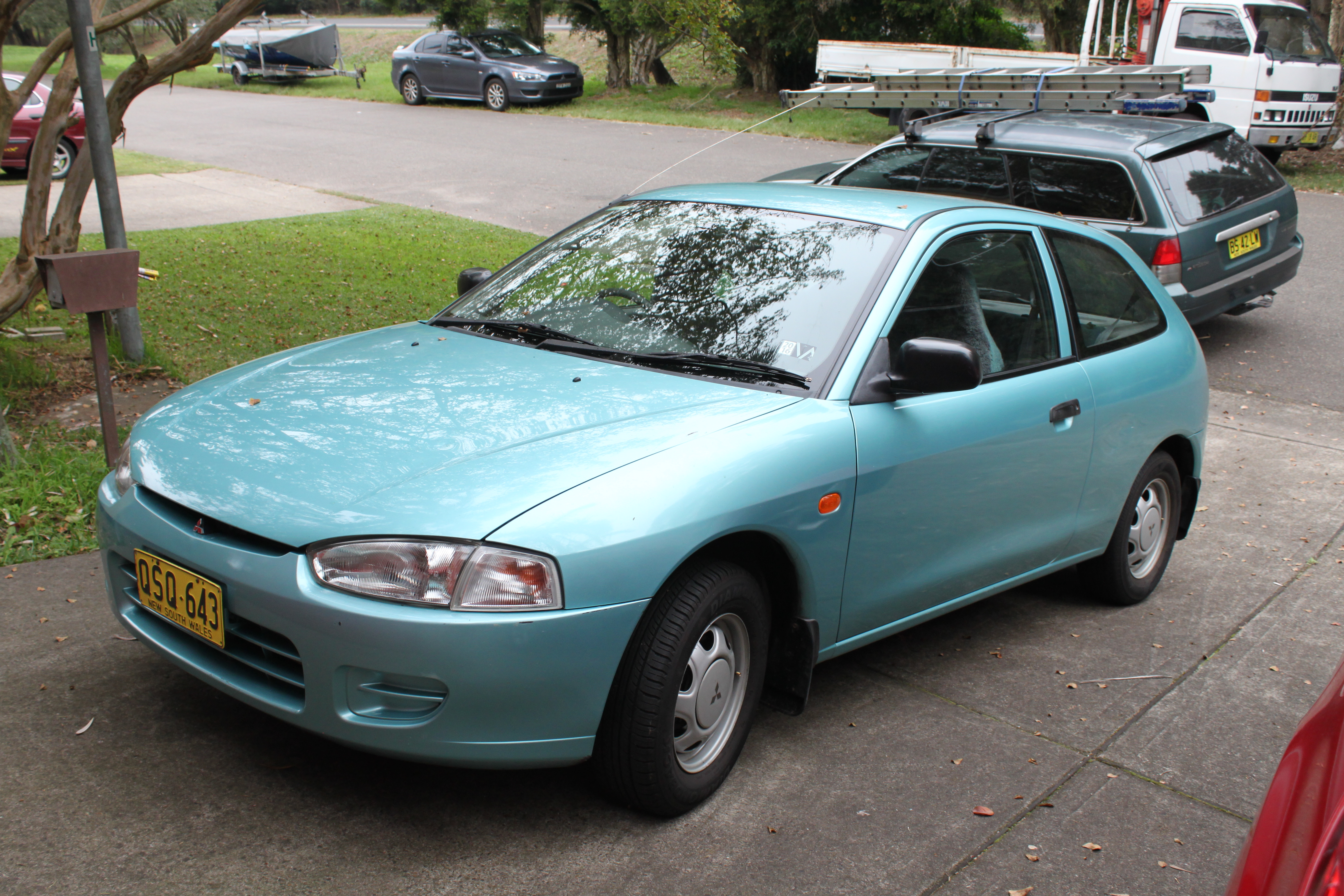 File:1997 Mitsubishi Mirage (CE) 3-door hatchback (26873996252 ...