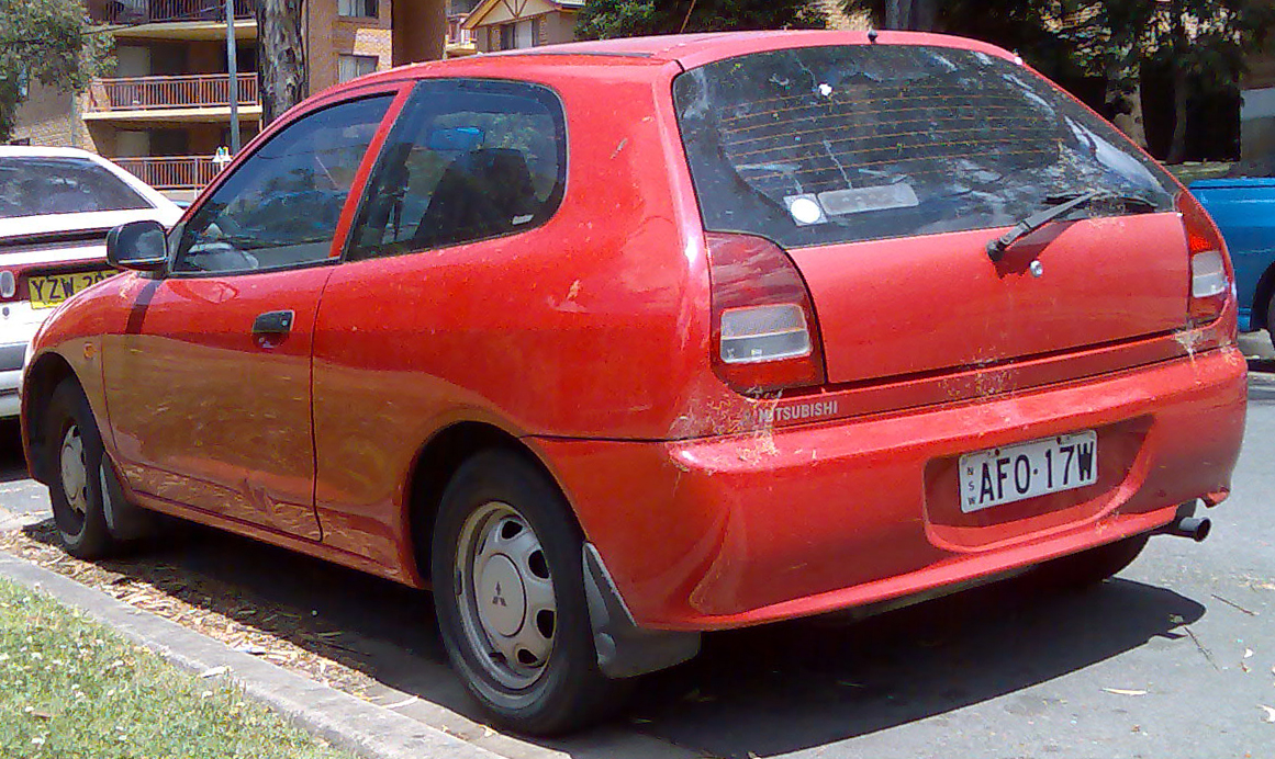 file1998 mitsubishi mirage ce 3 door hatchback 2008 11