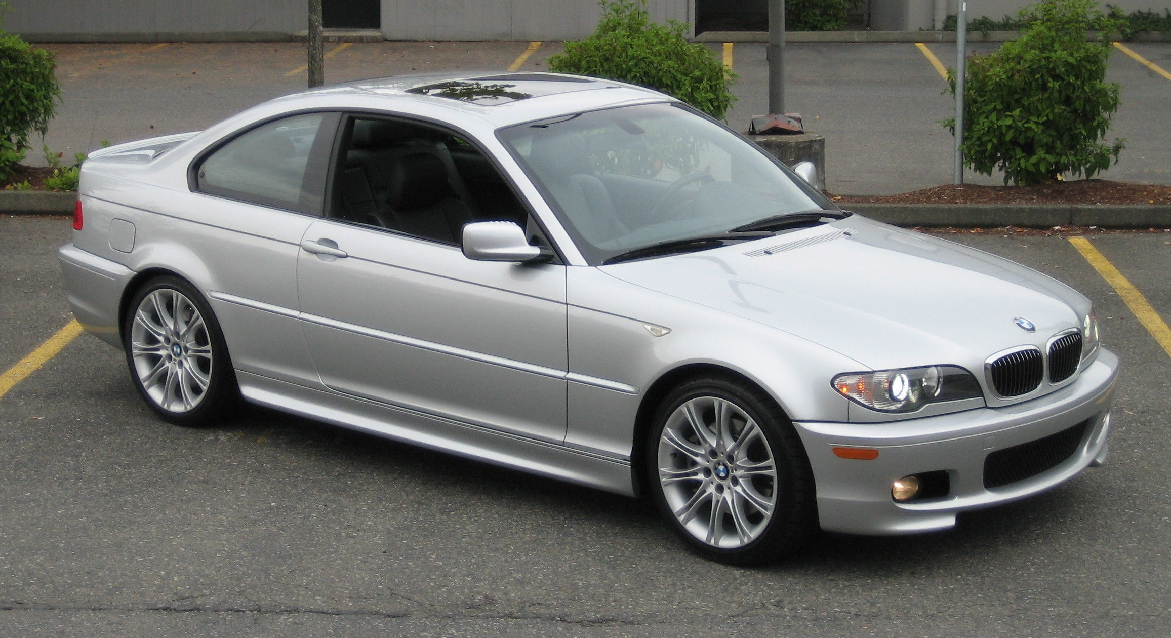File 2005 Bmw 330ci Zhp Silver Jpg Wikimedia Commons