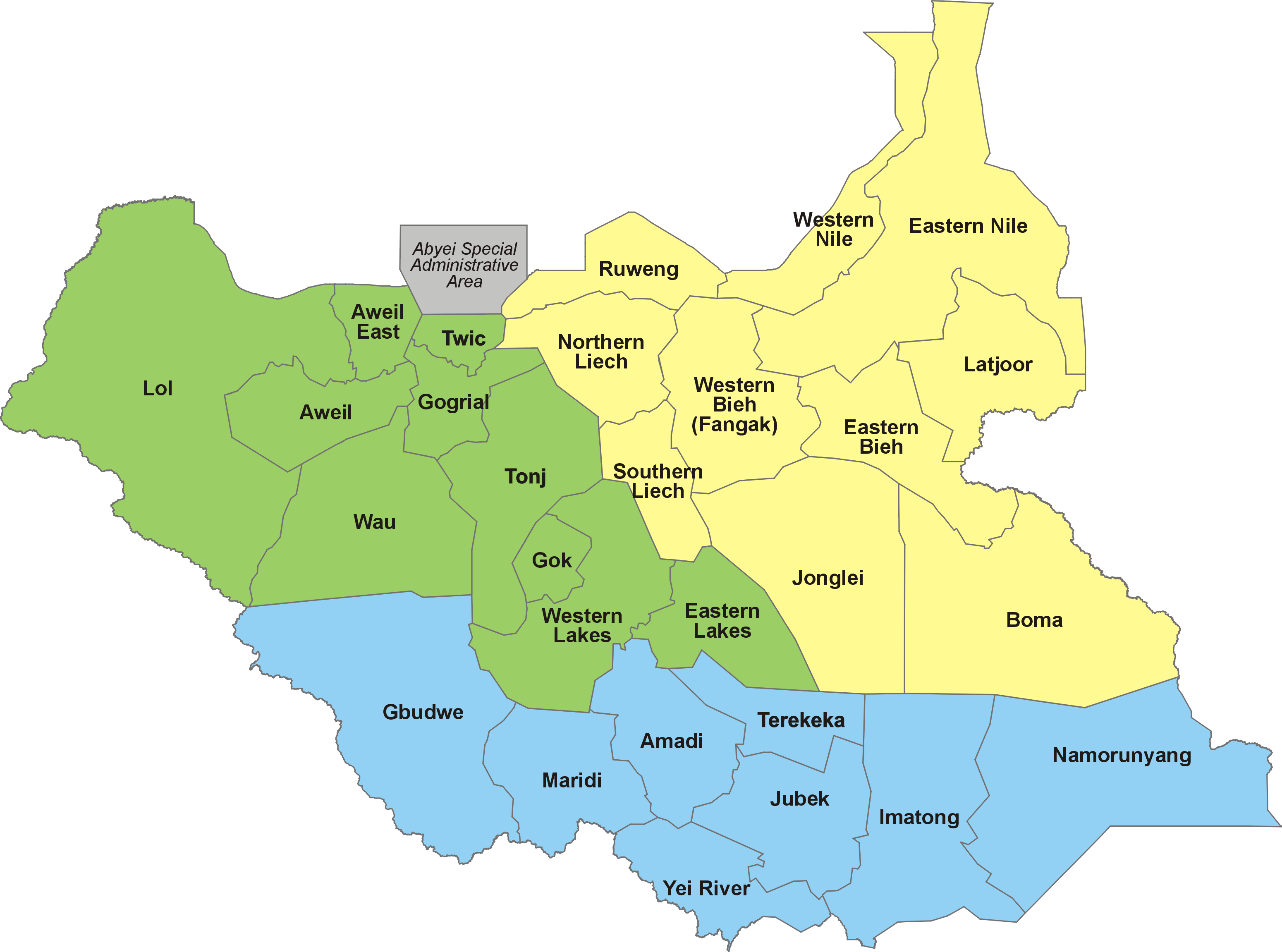 File28 States of South Sudan within regionspng Wikimedia Commons