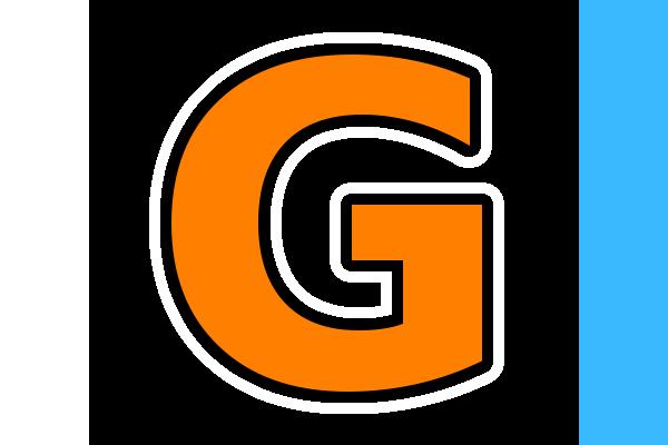 File 600px Black Background Bordered Black And White Orange Letter G