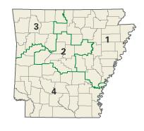Arkansas districts in these elections