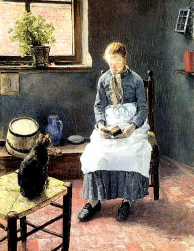 A reading Girl with a cat, 1885.jpg