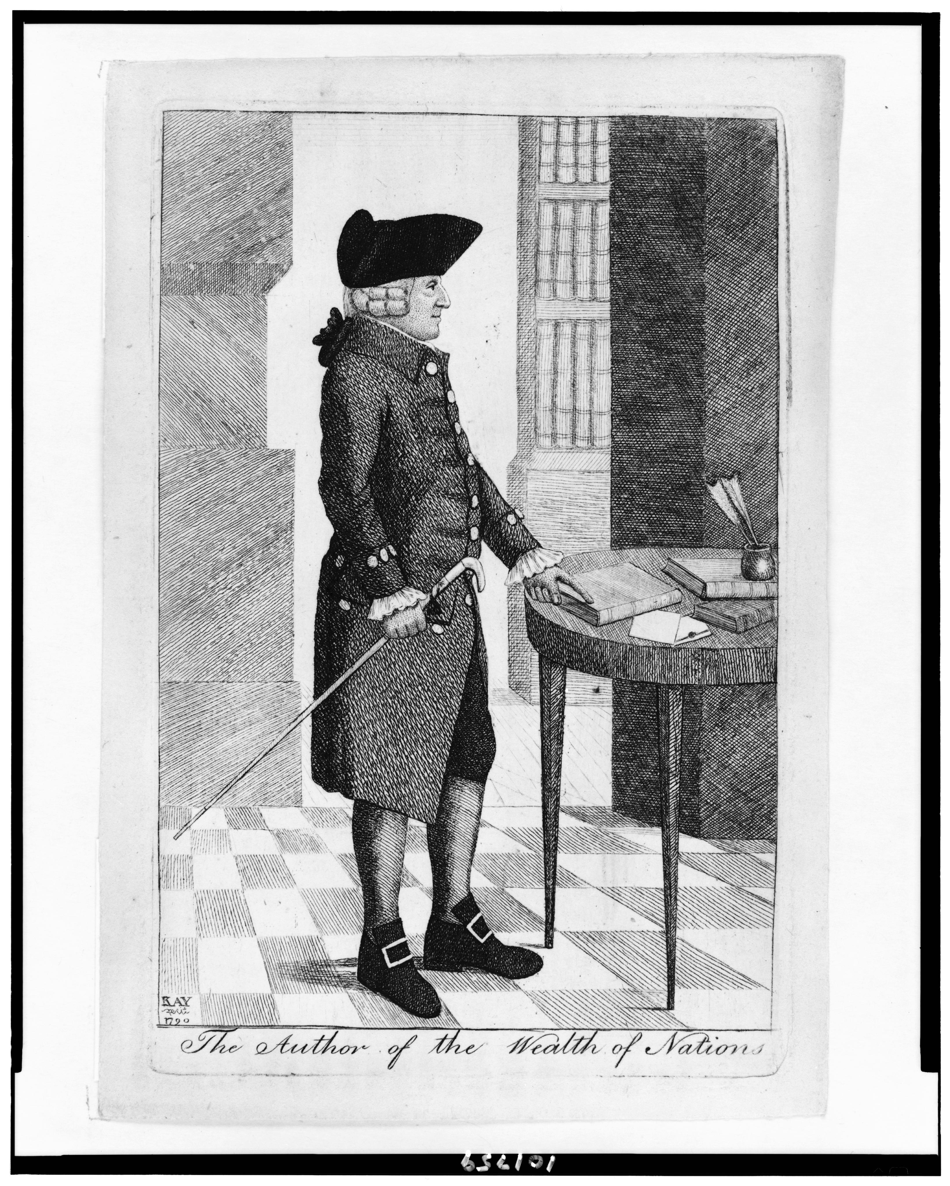Engraving of Adam Smith, 1790