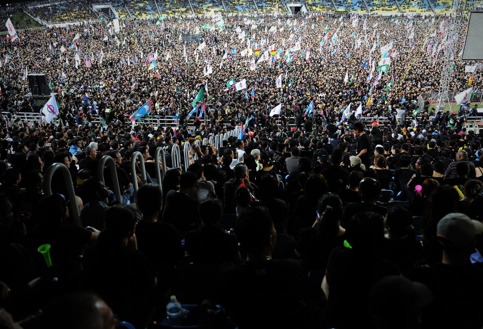 Malaysia's Post General Election rally 2013