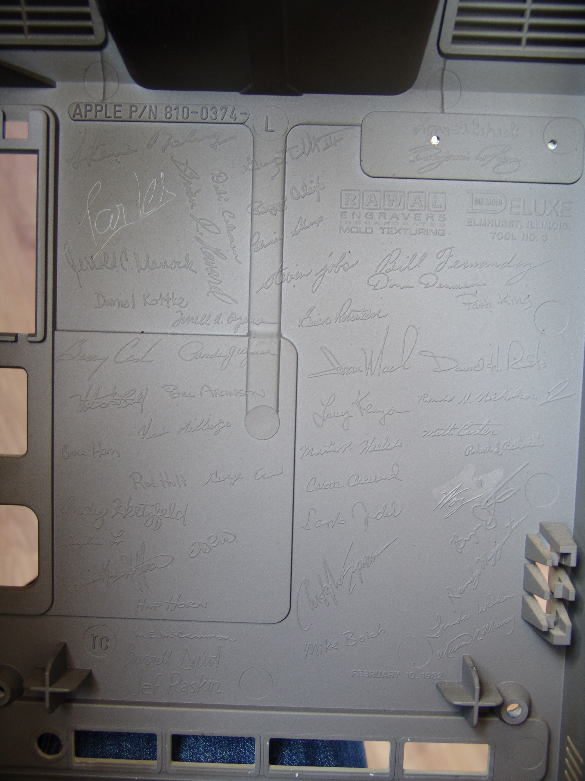 For the record, the very first Macintosh had the engineers' signature molded into its central unit case. Not one, not few, all 48 of them including Wozniak and Jobs themselves.
