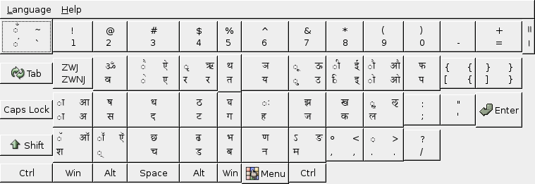 Bolnagri phonetic keyboard layout for Linux