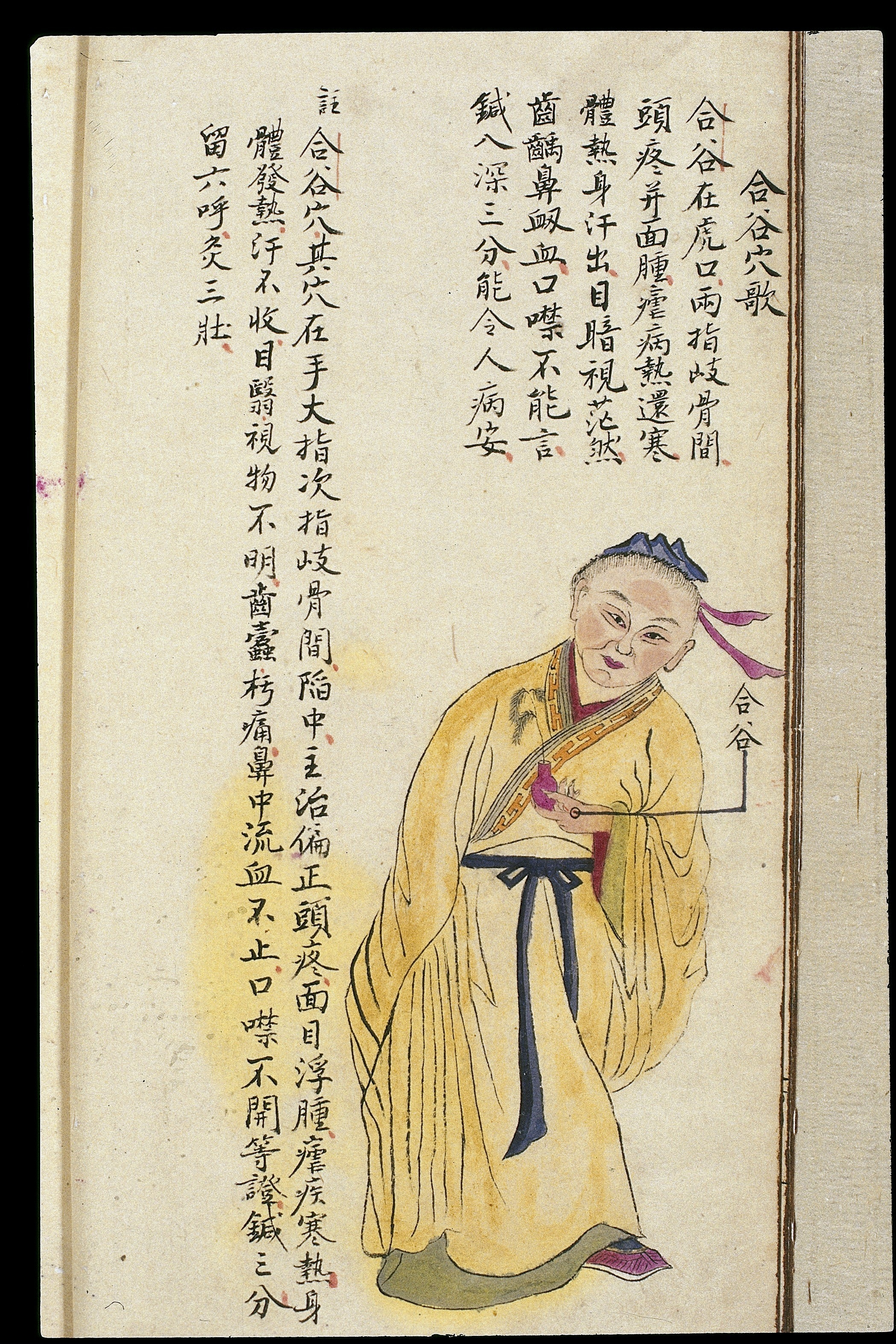 Trigger Point Chart: C19 Chinese MS moxibustion point chart; Hegu Wellcome ,Chart