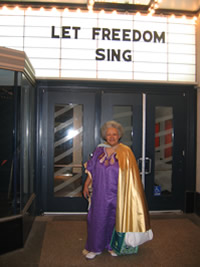 Herron at opening of Let Freedom Sing