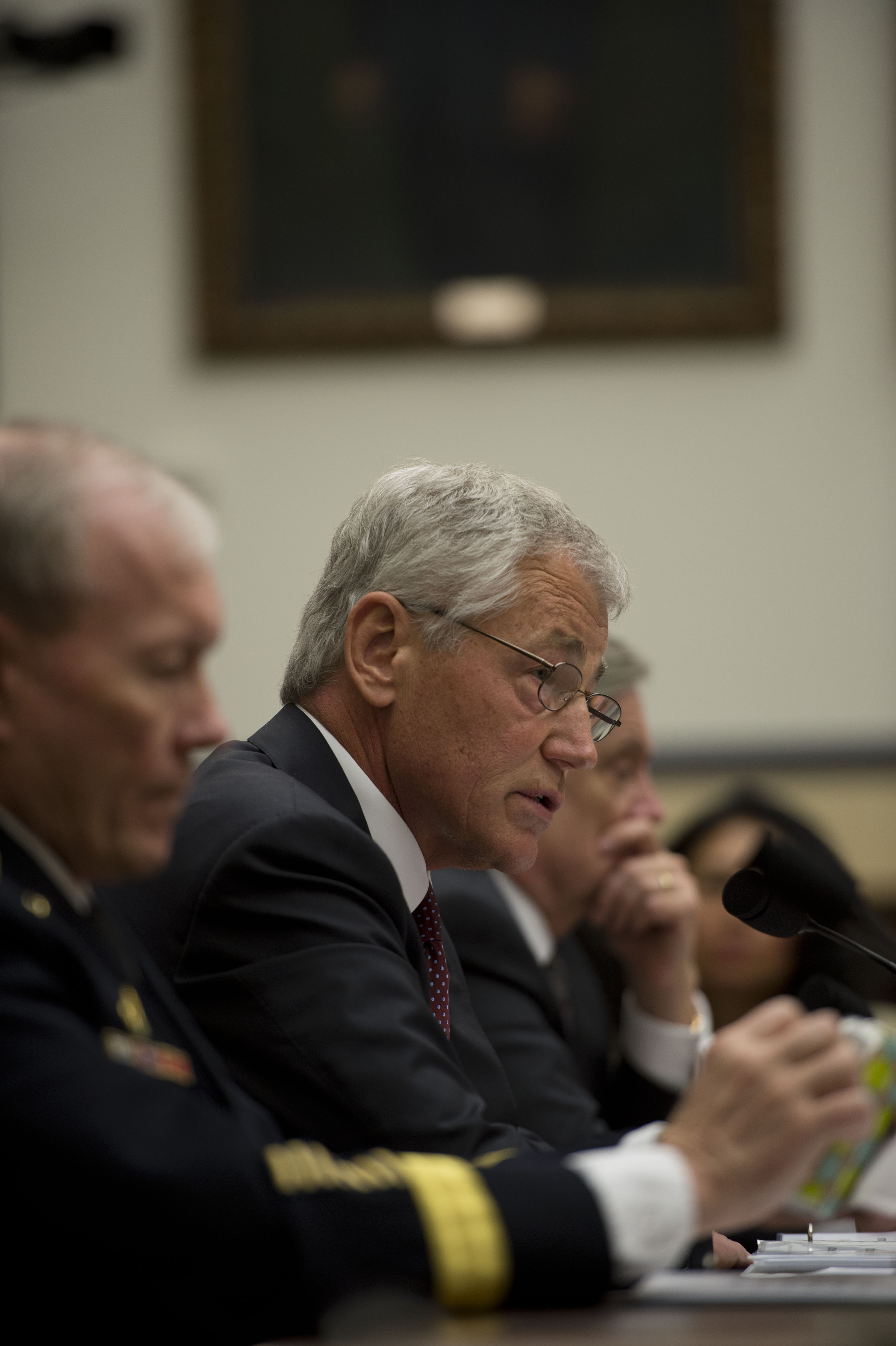 File chuck hagel testifies before the house armed services committee