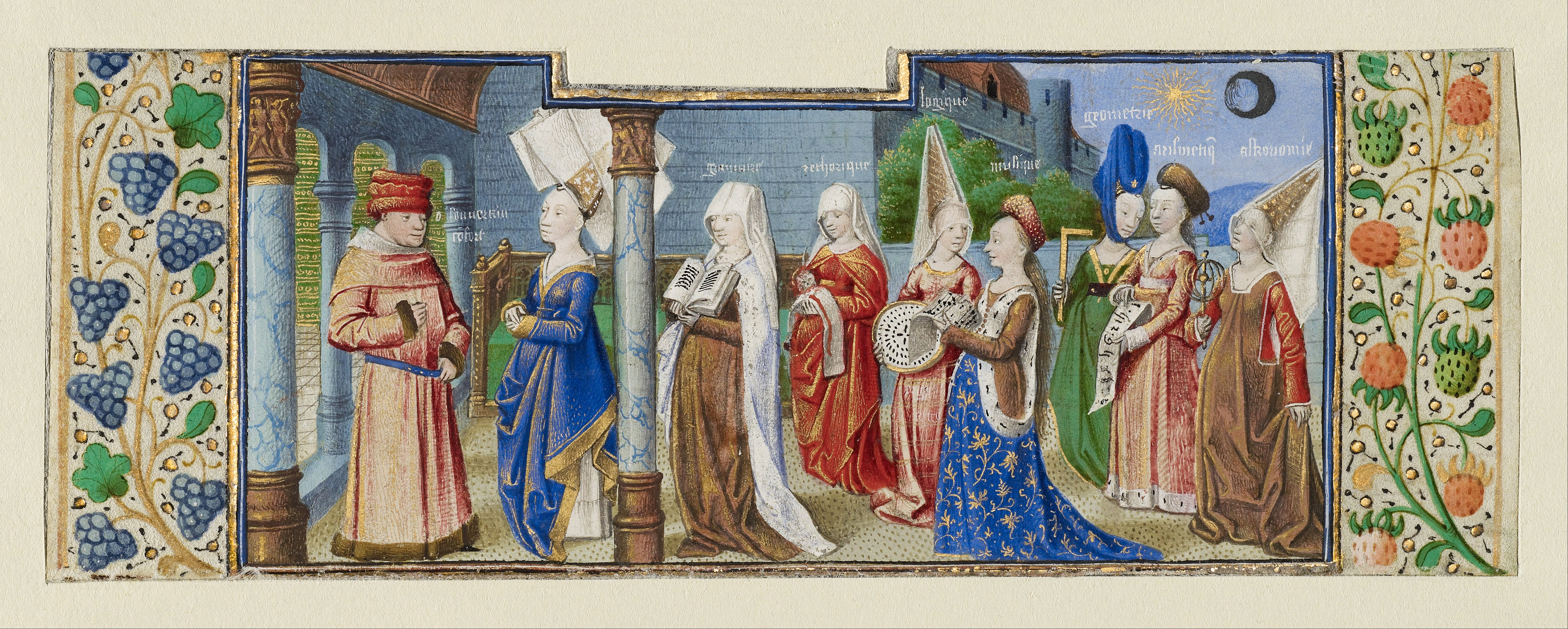 Philosophy Presenting the Seven Liberal Arts to Boethius.