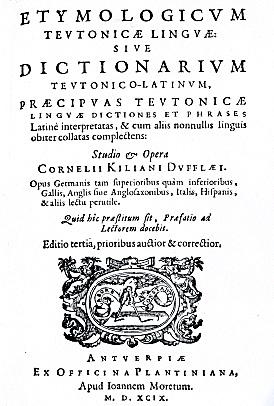 Woordenboek van Kilian