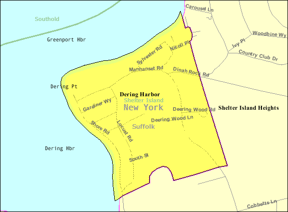 Island New York Map